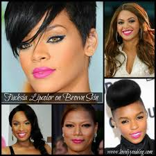 eyeshadow tutorial for brown skin makeup monday fuchsia lipcolor on brown skin lovely you blog