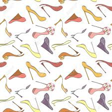 high wrapping paper seamless shoes pattern can be used for wallpaper website background
