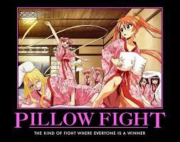 Pillow Fight Meme - crunchyroll forum anime motivational posters read first post