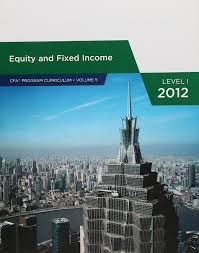 amazon com equity and fixed income cfa program curriculum
