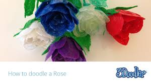 27 best 3doodler creations by how to doodle a rose with your 3doodler youtube