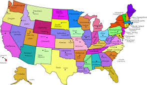 Map Of Usa With States And Cities by List Of State Capitals Symbols Usa Usa Map States And Fair Map