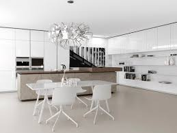 contemporary kitchen wood veneer island lacquered filo by