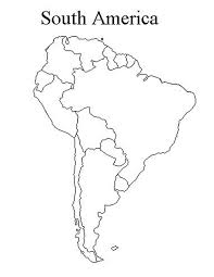 South America Map Countries Blank Map Of South America