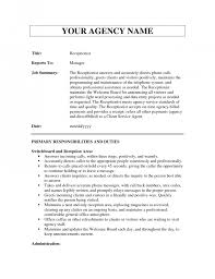 Resume Receptionist Sample by Receptionist Profile Resume Free Resume Example And Writing Download