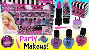 barbie fab doll tastic makeup party set lip gloss lipstick nail