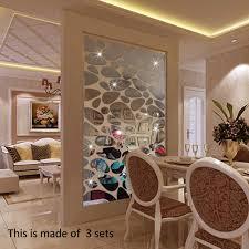 Design Spiegel Wohnzimmer 18 Teile Los 3d Kiesel Tapete Spiegel Acryl Wandaufkleber