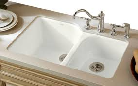 undermount kitchen sink with faucet holes kohler cast iron kitchen sink inside sinks for your idea