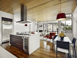 modern open plan kitchen dining room living room kitchen dining room open plan glass door cabinet