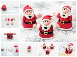 to diy fondant santa claus cake decorations