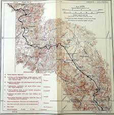 1916 siskiyou oregon border to glendale railroad map shasta