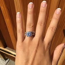 large round diamond engagement ring set wedding ring promise