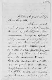 primary letter writing paper abraham lincoln rise to national prominence primary source set lyman trumbull to abraham lincoln august 24 1858