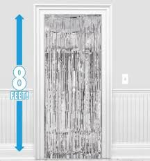 Silver Foil Curtains Silver Fringe Doorway Curtain 3ft X 8ft City