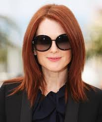 hair cuts with red colour 2015 red long straight hairstyles 2015 with elegant round sunglasses