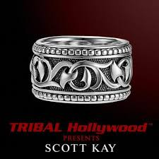 engraved sterling rings images An unkaged sparta engraved knotted vine band style ring scott jpg