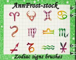 zodiac signs brushes symbol photoshop brushes brushlovers com