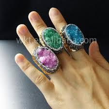 stone rings wholesale images Wt r229 wholesale custom stone rings for women natural druzy stone jpg