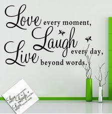 live laugh love art vogue assorted design live laugh love art word wall sticker paper