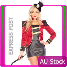 Lion Tamer Halloween Costume Ringmaster Circus Lion Tamer Showgirl Fancy Dress Halloween