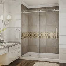 aston sdr976 tr 60 x 75 completely frameless sliding shower door