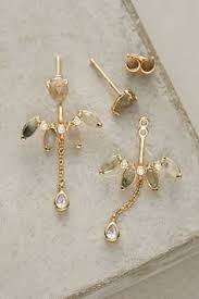 front and back earrings s 14 karat gold plated cz front back earrings products