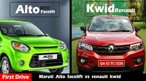 renault kwid boot space new alto 800 facelift vs renault kwid compare and review first