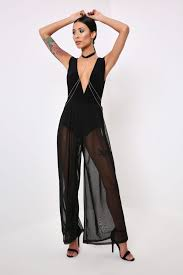 black mesh jumpsuit black mesh wide leg jumpsuit with s fashion isawitfirst