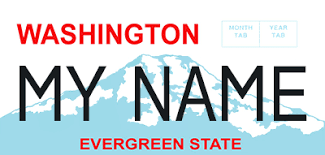 personalized photo plate wa state licensing dol official site personalized license plates