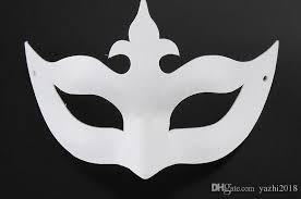 blank masquerade masks diy painted white mask crown butterfly blank