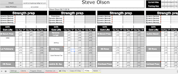 google sheets personal training templates u2013 excel training designs