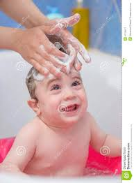baby bath in shower room stock photo image 47125671