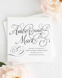 trifold wedding program paper charming script wedding programs wedding programs by shine