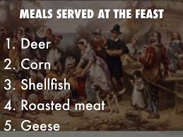 foods served at the first thanksgiving first thanksgiving by carson byrd