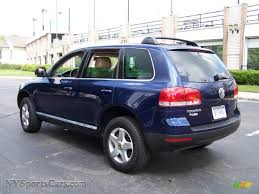 volkswagen touareg blue 2004 volkswagen touareg v6 in shadow blue metallic photo 3