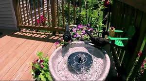 solar powered easy bird fountain kit small floating water