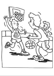 Basketball Court Coloring Pages Getcoloringpages Com Basketball Color Page
