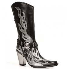 womens cowboy boots rock style cowboy boots leather rock cowboy boots with steel heels
