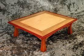 torii coffee table mahogany bloodwood and maple u003e montana fine