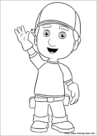 handy manny coloring free download