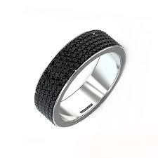 mens black diamond wedding band all around black diamonds men s band