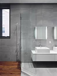 Designer Showers Bathrooms Modern Home Architecture Bathroom With Concrete Brick Wooden