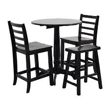 Round Table Dining by 59 Off Counter Black Round Table With Chairs And Stool Tables