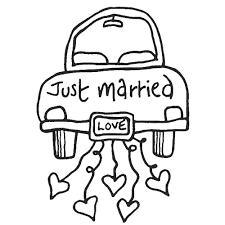 just married coloring page cecilymae