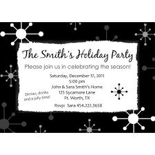 black and white retro holiday christmas party invitation