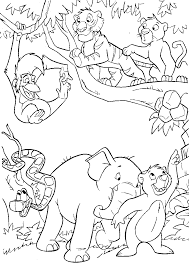 jungle animals coloring pages free coloring home