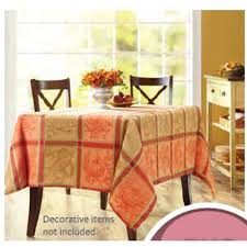 autumn harvest table linens better homes and gardens autumn harvest jacquard plaid tablecloth