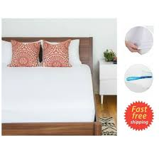 Full Size Mattress Cover King Mattress Topper Soft U0026 Quiet Waterproof Mattress Bed