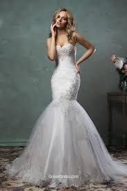 stylish strapless sweetheart neckline tulle mermaid wedding dress