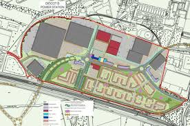 didcot a power station site housing plan approved bbc news